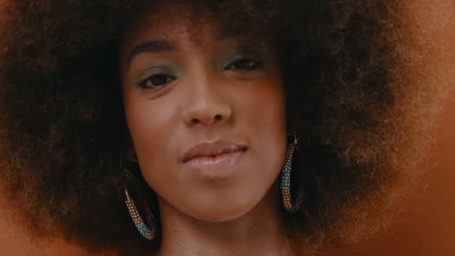 be your authentic self and rock your natural hair - natural hair stock videos & royalty-free footage