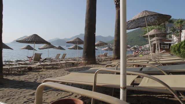 beach & aegean sea, marmaris, anatolia, turkey - turkey stock videos and b-roll footage