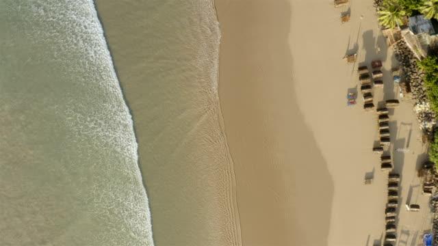 vídeos de stock e filmes b-roll de beach aerial from southern sri lanka - coastline