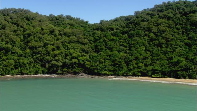 WS AERIAL Beach and Daintree Rainforest, Cairns, Queensland, Australia