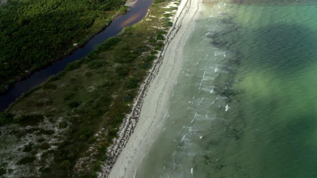beach and estuary on yucatan coast - 北半球点の映像素材/bロール