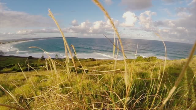 Beach and landscape of Ballina, New South Wales, Australia, in slow motion