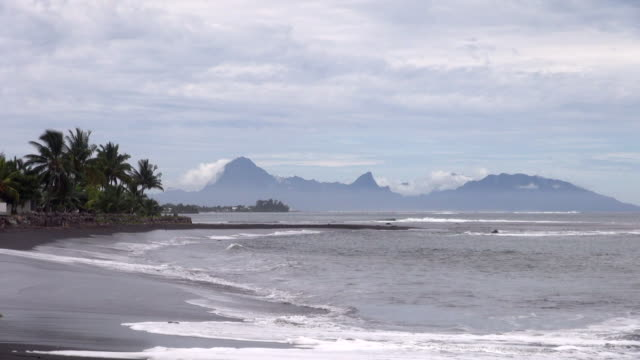 Beach and Mountain View of Papeete