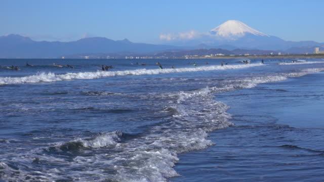 beach and Mt Fuji -surfer-