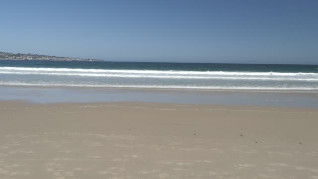 beach and pacific ocean, monterey peninsula, california, united states of america, north america - north pacific stock videos & royalty-free footage