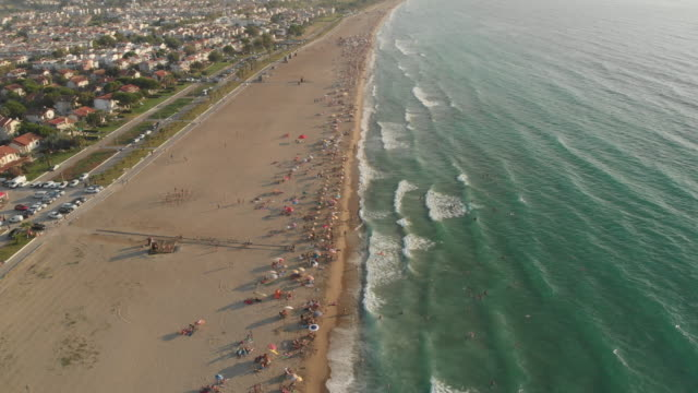 beach and people, aegean sea, turkey - aydın province stock videos and b-roll footage