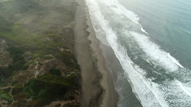 beach and road aerial - eroded stock videos & royalty-free footage