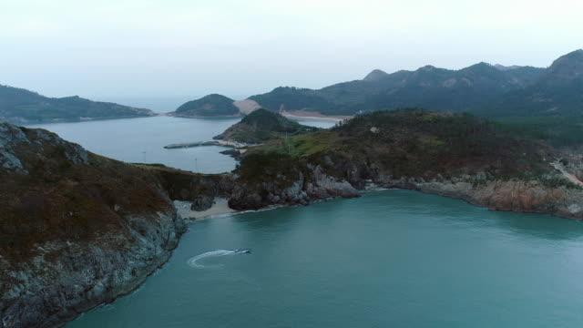 vidéos et rushes de beach and sand hill of uido island / sinan-gun, jeollanam-do, south korea - hill