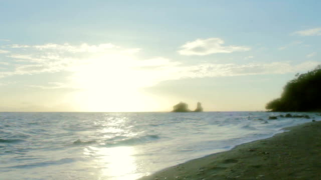 beach at a late afternoon - batangas province stock videos and b-roll footage