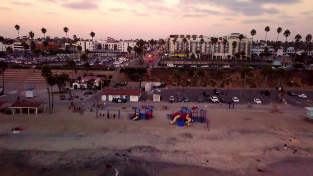 beach at oceanside, california at dusk - oceanside stock videos and b-roll footage