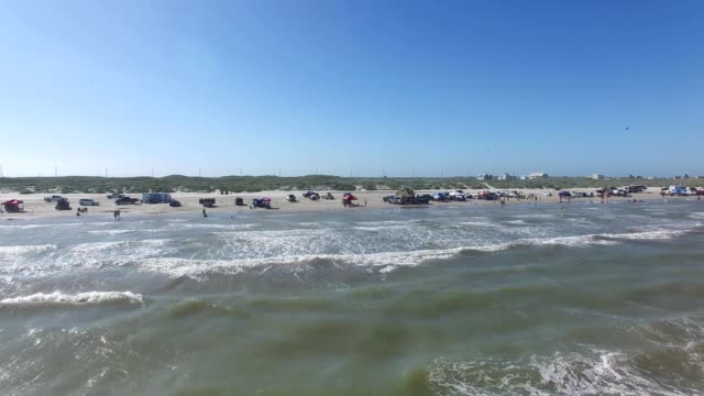 beach at port aransas mustang island texas - gulf coast states stock videos & royalty-free footage