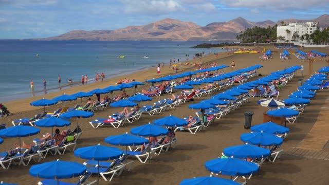 Beach at Puerto del Carmen, Lanzarote, Canary Islands, Spain, Atlantic, Europe