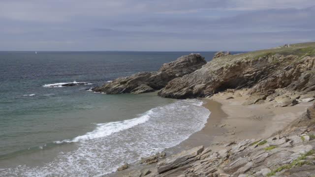 Beach at rocky coast at Cote Sauvage
