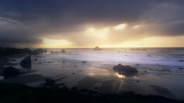 Beach at Sunset, Oregon Coast