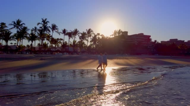 beach at sunset - mexico stock videos & royalty-free footage