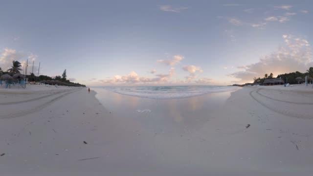 beach at varadero resort in cuba - monoscopic image stock videos & royalty-free footage