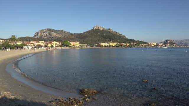 Beach at village of Golfo Aranci