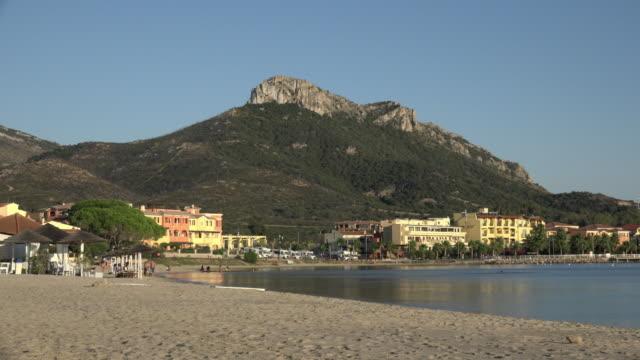 beach at village of golfo aranci - sassari stock videos & royalty-free footage