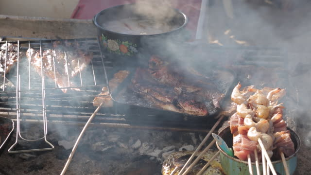 Beach BBQ, Downtown, Puerto Vallarta, Jalisco, Mexico, North America