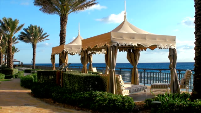 beach cabana tent - armchair stock videos & royalty-free footage