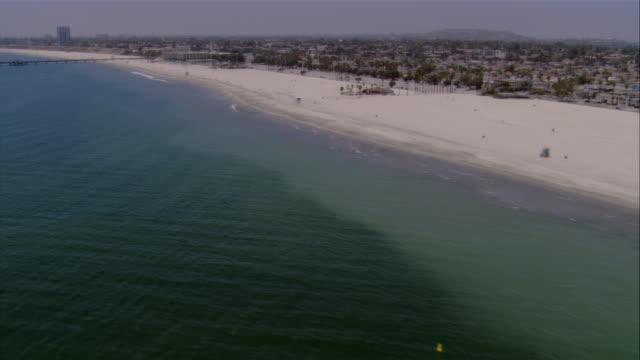 low aerial beach, california, usa - fan palm tree stock videos & royalty-free footage