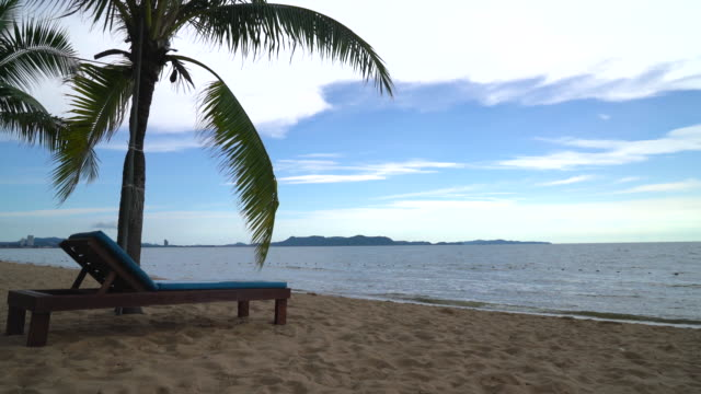 Strand stoel, Palm en tropische beach