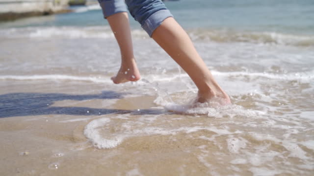 beach days are perfect days - barefoot stock videos & royalty-free footage
