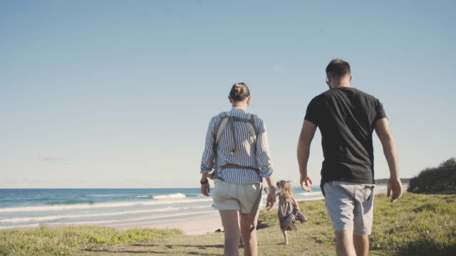 beach days - two parents stock videos & royalty-free footage
