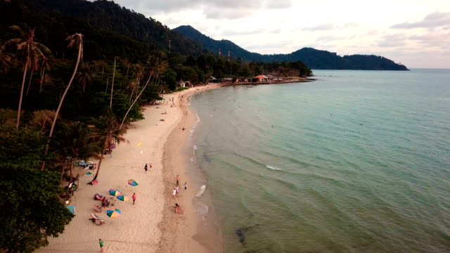 beach from drone thailand island koh chang - koh chang stock videos and b-roll footage