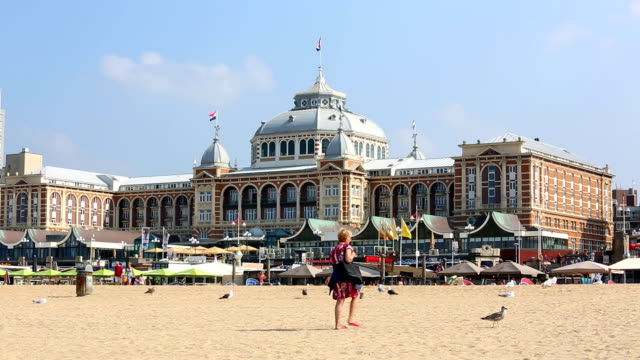 beach from scheveningen, close to den hague, time lapse - the hague stock videos and b-roll footage