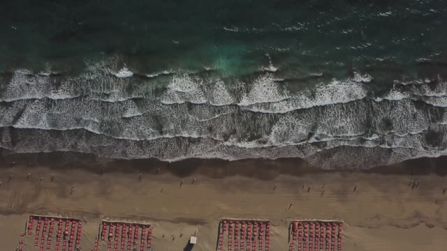 beach front, maspalomas, gran canaria, spain - grand canary stock videos and b-roll footage