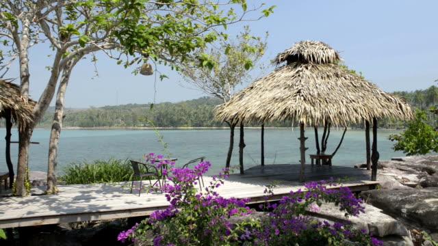 beach gazebo - gazebo stock videos & royalty-free footage