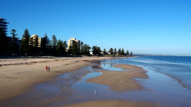 beach - glenelg, south australia - digital enhancement stock videos & royalty-free footage