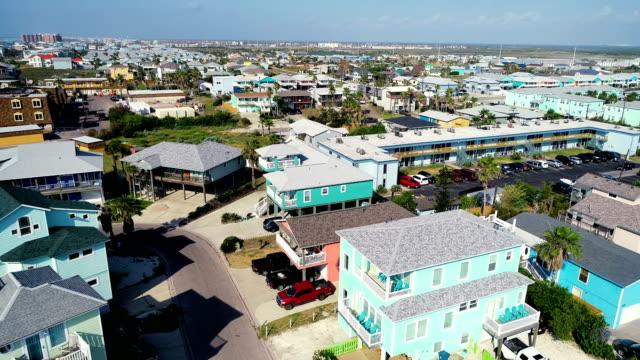 beach homes - corpus christi texas stock videos & royalty-free footage