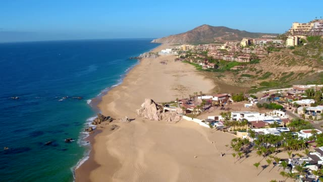 beach in cabo san lucas baja california sur mexico - baja california peninsula stock videos & royalty-free footage