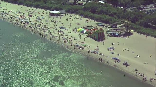 beach in gdansk - water slide stock videos & royalty-free footage
