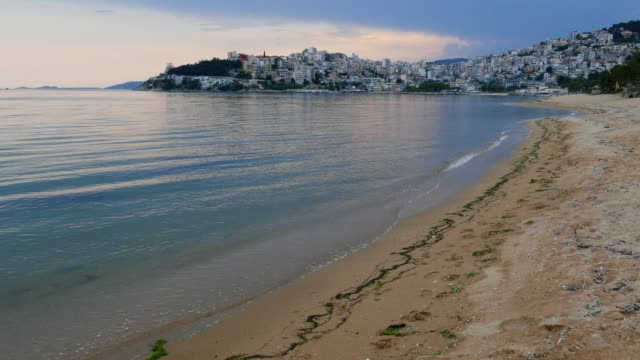 Beach in Kavalla, Greece, Travel Destinations, Majestic sunset light, Mediterranean cultures, Idyllic Seascape, Adventure, Travel