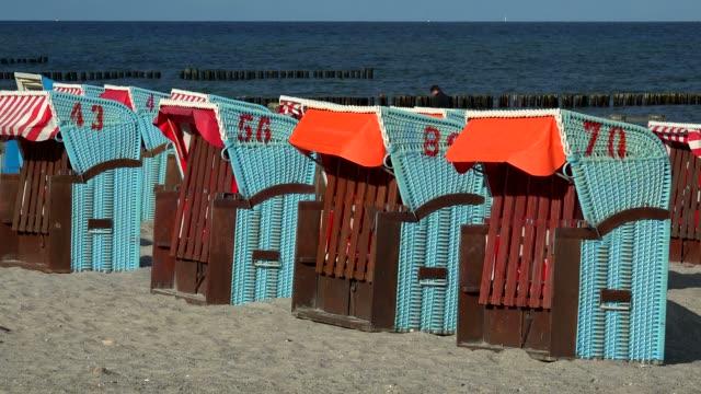 beach in kuehlungsborn, baltic sea, mecklenburg-western pomerania, germany, europe - western europe stock videos & royalty-free footage