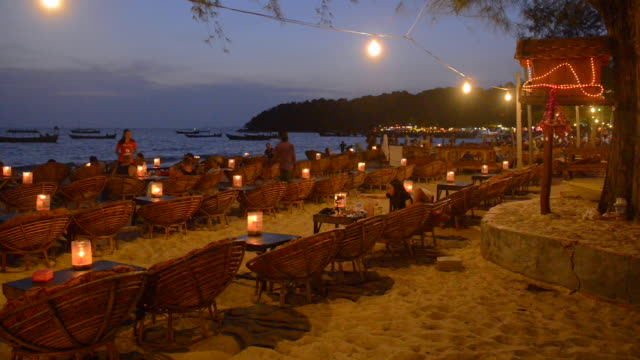 beach in sihanoukville, cambodia - bar background stock videos & royalty-free footage
