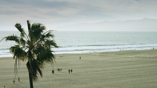beach in the evening - südkalifornien stock-videos und b-roll-filmmaterial