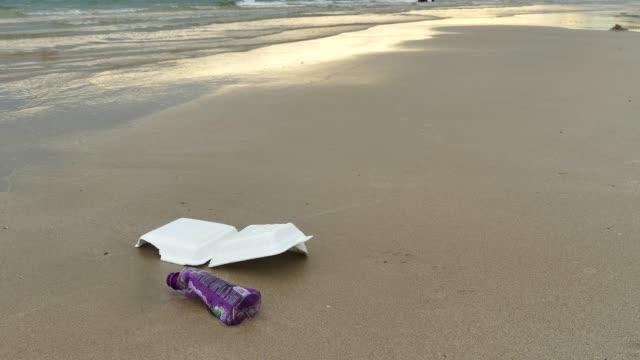 beach junk - polystyrene stock videos & royalty-free footage