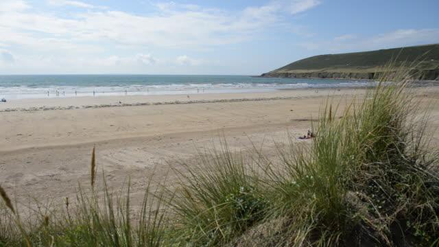 Beach landscape Devon, England.