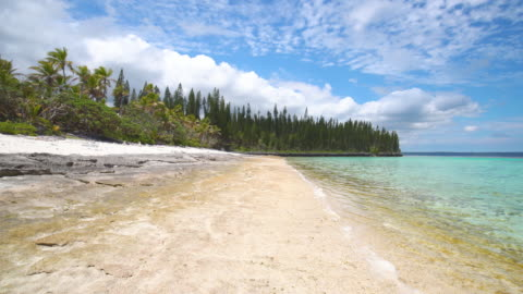 beach loyalty islands maré new caledonia - pacific islands stock videos & royalty-free footage