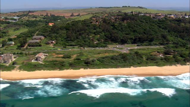 vídeos y material grabado en eventos de stock de playa desainagar - vista aérea - kwazulu-natal, ethekwini municipio metropolitano, ethekwini, sudáfrica - kwazulu natal