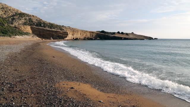 beach near monolithos - rhodes dodecanese islands stock videos & royalty-free footage