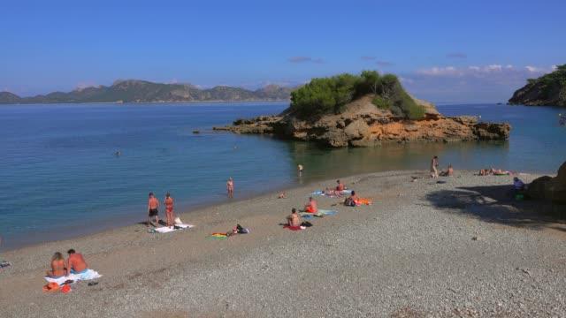 Beach near S'Illot, Badia de Pollenca, Majorca, Balearic Islands, Spain, Mediterranean, Europe
