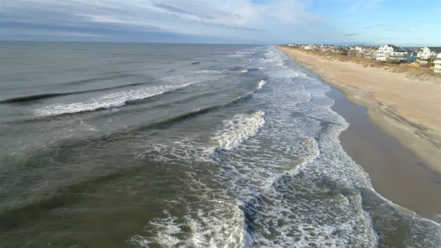 beach neighborhoods of outer banks, nc - north carolina beach stock videos & royalty-free footage