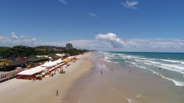 beach of milhonarios in ilheus, bahia, brazil - bay of water stock videos & royalty-free footage