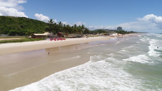 beach of milhonarios in ilheus, bahia, brazil - bahia state stock videos and b-roll footage