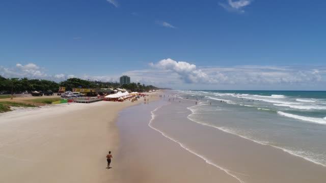 beach of milhonarios in ilheus, bahia, brazil - bahia state stock videos & royalty-free footage